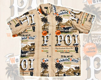 RARE & COLLECTIBLE 60s Hawaiian Holiday Waiahole Poi Factory shirt