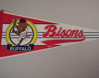 Vintage Buffalo Bisons Pennant Banner/ Flag