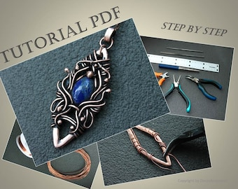 Wire wrap tutorial Wire tutorial Pendant Wire wrap lesson Wire weave tutorial Wirework tutorial Wire soldering tutorial Dorasaccessory PDF