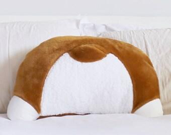 Corgi Booty Pillow - Back Pocket - Corgi Gifts - Corgi Butt - 22 x 16 in