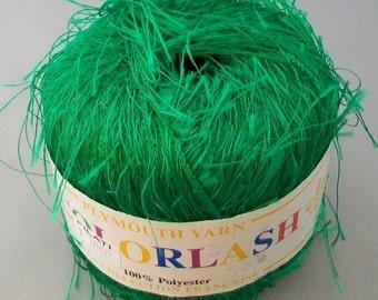 Green Eyelash Plymouth Collection Francaise - destash by foxygknits