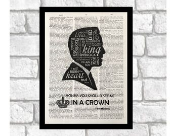 Moriarty Quirks and Quotes Dictionary Page Art Print ~ Sherlock/Moriarty Fan Print Art on 8x10 upcycled dictionary page ~ Jim Moriarty