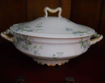 Antique Covered Serving Dish or Soup Tureen