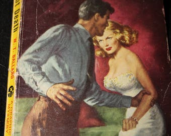 vintage paperback book dealing out death 1948 graphic noir mystery gga