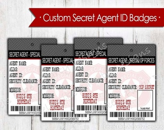 Custom Secret Agent ID Badges