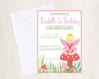 Custom Fairy Birthday Invite - Pixie Party Invitation - Fairy - Party Supplies