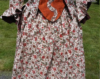 18th Century Caraco Jacket and Petticoat w/ Silk Stomacher SALE!!!