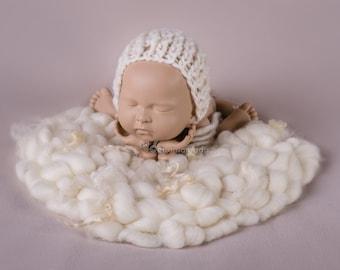 BUBBLE BLANKET SOFT 100% Wool cloud Bubbles, wool blanket, blanket prop, photography props, layering blanket, newborn prop, photo props