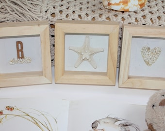 a personalised gift, baby shower, birthday, beach lover, SET OF 3 shadow boxes, nursery decor
