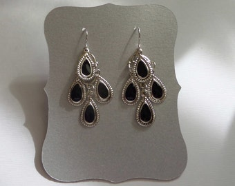 Pearlized Silver Gray Earring Display Cards