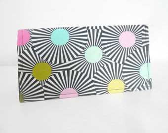 Black and White Checkbook Cover, Duplicate Checkbook Cover, Mod Check Book