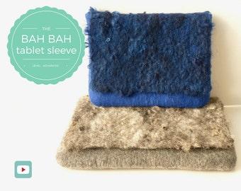 Ipad Case/Laptop Bag/Kindle Cover - Wet Felting Video Tutorial/DIY - Gift For Men - Instant Download