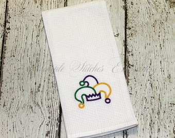 Mardi Gras Jester Hat Kitchen Towel
