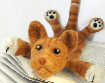 Custom Bookmark - Your cat needle felted into a Customised Cat Bookmark