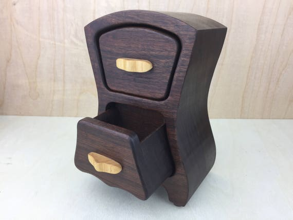 Handmade jewelry box bandsaw box stash box wooden box