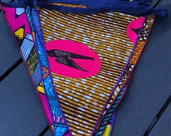 Super Cheerful African Print Bunting