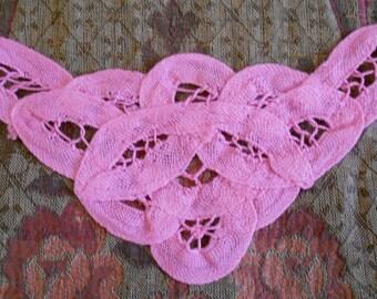 Pink Battenburg Lace Appliques