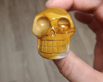 2 inch mookaite skull