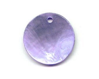 10 x 10mm round purple Pearl sequin
