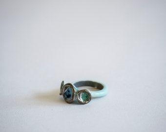 Porcelain Ring. Porcelain Jewelry. Ceramic Ring. Ceramic Jewelry. Ring. Jewelry. Silver. Luster