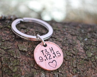 Lucky Penny Keychain | Personalized Penny | Anniversary Gifts For Boyfriend | Couples Gift | Long Distance Relationship | Gift For Boyfrie