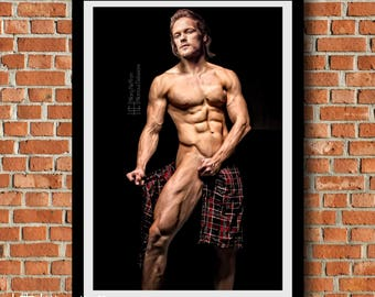 "Jamie Fraser ""Under the Kilt"" Digital Painting Print, Outlander"