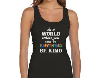 Be Kind - Autism Awareness Women Tank Top