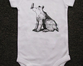 Cute Baby bodysuit, Unique Baby clothes, Baby bear, Baby Bodysuit, Kids Clothes, Teddy bear baby, Bear, Animal baby clothes