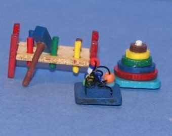 1:12 Miniature Baby Toys kit/ Dollhouse Miniature Toy Miniature Kit  DI TY102