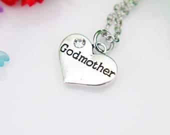 Godmother Necklace, Godmother Charm, Godmother Gift, Aunt Gifts, Godparent  Gift, Meaningful Gift, Inspirational Gift, Personalized Gift