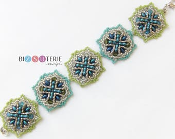 Capri bracelet - instant download beading pattern