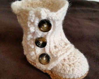 Baby boots, baby wrap boots, crochet baby booties, baby shoes, baby girl boots, baby girl tall boots, handmade, baby shower gift, photo prop