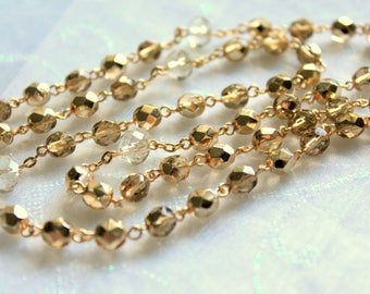 Gold and Crystal Rosary