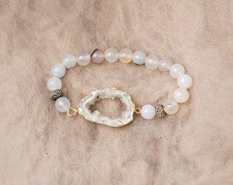 Geode & Agate Bracelet