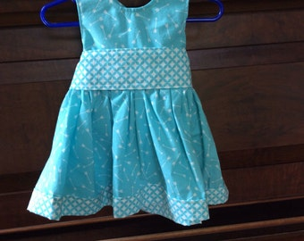 12 months dress with bow