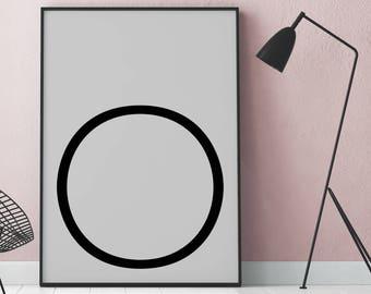 Poster: typolove - Monogram / Letter O No. 1