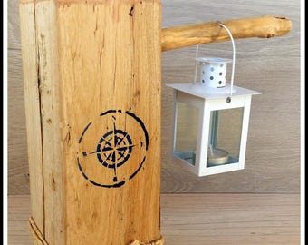 Candle lantern in Driftwood