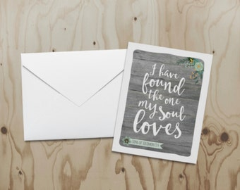 My Soul Loves Note Card
