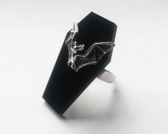 Bat Coffin Ring