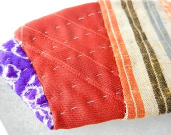 Brooch - Japanese Kimono Silk & Cotton Fabric