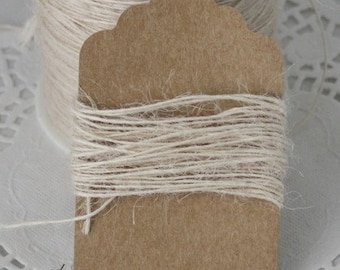 Ivory Burlap Twine, Weddings, Crafts, Gift Wrapping, Jewelry Supplies, Bakery Twine, Party Supplies, Invitations, Ivory Twine