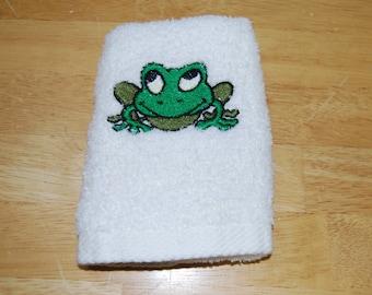 Frog Small Hand Towel