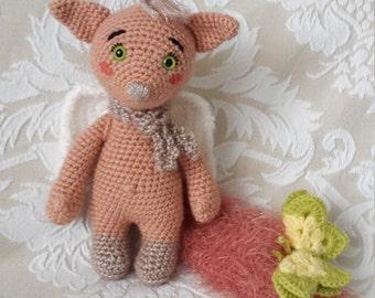 Angel cat crochet pattern