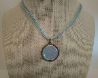 Blue multi-strand boho necklace