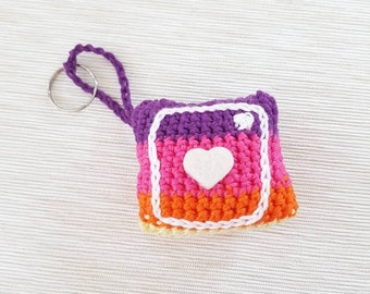 Keychain amigurumi Instagram symbol-Instagram enthusiasts-gift idea for her or him-mother's day-social mom