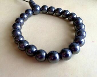 Hematite, Stretch Bracelet, Black Hematite, Stretch, Gemstone, Boho Bracelet, Healing Stone, Gifts for Her, Hematite Bracelet