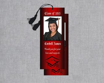 Graduation Bookmarks - Custom Graduate Bookmark - Thank You Bookmarks - Graduation Favors - Personalized Graduation Party Favors - Set of 10