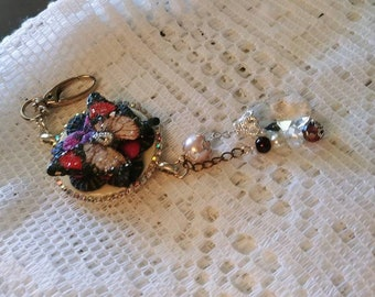 Purse Charm or Handbag Charm, Red Butterfly, Wings of Hope