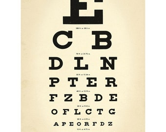 Eye Chart Doctors Office Wall Decal #46700