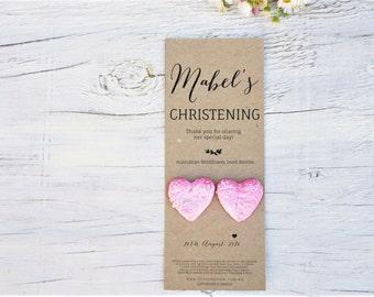 Christening Favours, Australian Native Wildflower Seed Bombs, Favors, Bomboniere, Baptism, Handmade